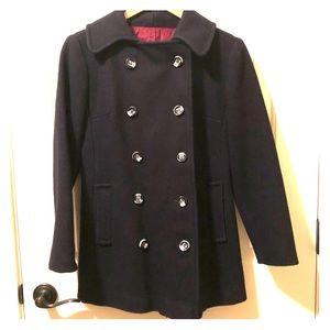 Vintage Wool Navy Pea Coat Women's Small
